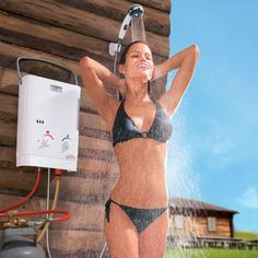 Outdoor Gas Shower Multi Head Tankless Portable Garden Instant Hot Water Heater in Home, Furniture & DIY, Heating, Cooling & Air, Water Heaters & Boilers | eBay