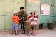 Kids and IDF Soldier