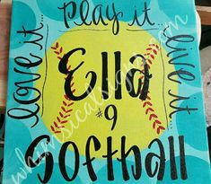 Softball travel ball travel softball softball decor 12x12