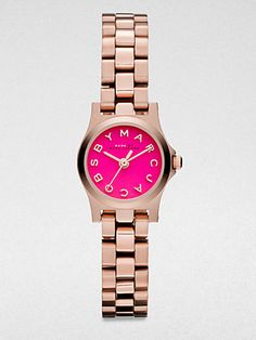 Marc by Marc Jacobs  Henry Dinky Rose Goldtone Stainless Steel Watch/Pink Dial