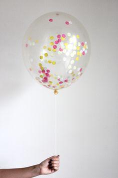 Confetti Filled Balloon - Boardwalk