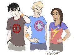 hero trio by radicalrebelcat
