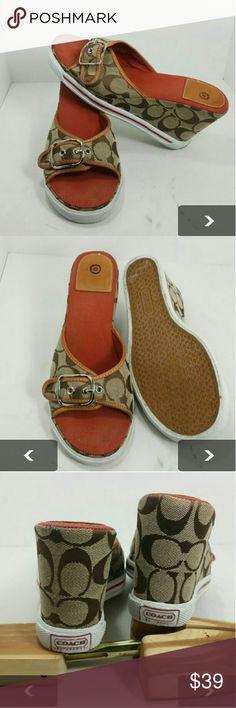 COACH WOMEN'S WEDGE HEELS VERY CLEAN   SKE # TU coach  Shoes Wedges