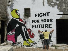 Chekos'art - street artist - Fligt for your future