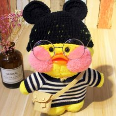 Cafe-Mimi Yellow Duck Plush Toy With Pink Cheek Stuffed Duck Toys Pet Ducks, Baby Ducks, Mochi, Pink Cafe, Duck Wallpaper, Cute Ducklings, Duck Toy, Baby Icon, Cute Cafe