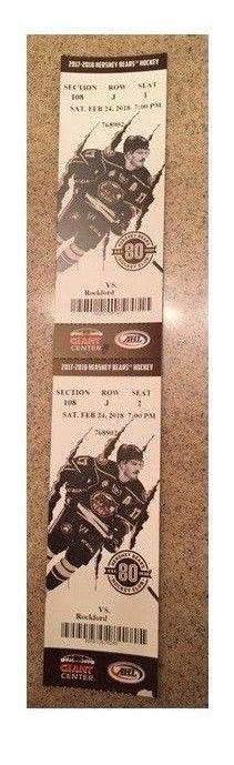 #tickets Hershey Bears AHL Hockey Tickets (2) 2/24/2018 vs. Rockford IceHogs - Aisle please retweet