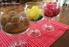 Gominolas de mojito, de frambuesa y ginebra y de ron con Coca - cola o Pepsi con paso a paso