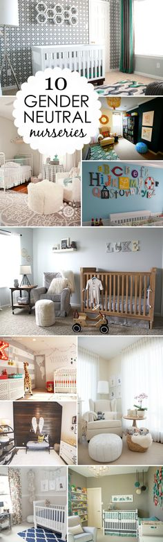 10 Gorgeous Gender Neutral Nurseries - from rustic to modern and everything in between!