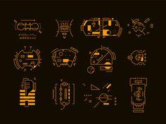 Personal ⚒ jan–jul on Behance Gui Interface, User Interface Design, Ui Inspiration, Graphic Design Inspiration, Ui Elements, Design Elements, Game Design, Ui Design, Science Fiction