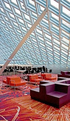 Working Area, Seattle Public Library  | Rem Koolhaas and Joshua Prince-Ramus of OMA/LMN