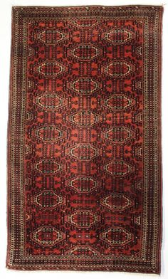 Yomut Rug, Turkmenistan;Central Asia. Late 19th century; 3-8 x 5-0 ft.