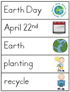 Earth Day Word Wall Word Work Pack - 26 pages