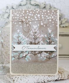 O'Tannenbaum Revisited: O'Tannenbaum Card by Melissa Phillips for Papertrey Ink (October 2016)