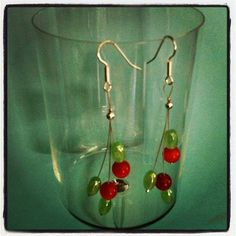 Surgical Steel Glass Earrings  18.00