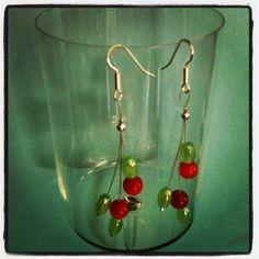 Surgical Steel Glass Earrings  18.00