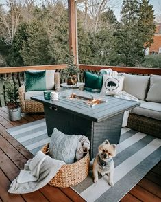Winter cabin decorations / patio furniture / outdoor rug / firepit / fire table / pilllw covers / apres ski #LTKtravel #LTKhome #LTKfamily