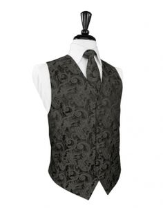 Tapestry Charcoal Tuxedo Vest by Cardi