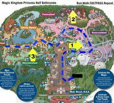 Princess Half Marathon Potty Time: Where to Find the REAL Bathrooms On the Course at a Walt Disney World Half Marathon