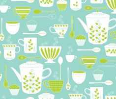 Retro Coffee fabric by kayajoy on Spoonflower - custom fabric - also super cute for pj pants