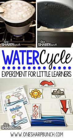 From evaporation, to condensation, to precipitation. learn all about rain and clouds using this super simple water cycle experiment for kids! Simple Water Cycle, Water Cycle Craft, Water Cycle For Kids, Water Cycle Project, Water Cycle Activities, Weather Activities, Rainforest Activities, Weather Crafts, Summer Activities