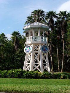 Walt Disney World Lifeguard Tower - old Disney Vacation Club DVC logo.