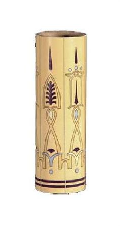 Arts & Crafts Style Print Fiber Paper Candle Cover000