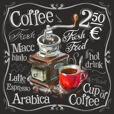 Shop for Menu Coffee Diamond Painting Kit at Pretty Neat Creative with ✅ Softest canvas, Sparkliest beads ✅ Most Durable Package ✅ WARRANTY. Coffee Corner, Coffee Love, Coffee Art, Coffee Shop, Coffee Club, Coffee Mugs, Coffee Prices, Café Chocolate, Etiquette Vintage