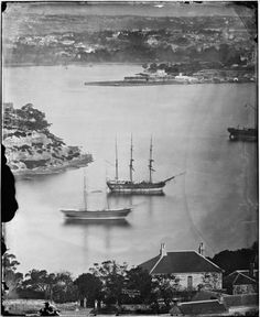 Fort Macquarie from Blues Point Road, North Sydney (with Milsons Point left) 1870-75 (American & Australasian Photographic Company - SLNSW). Thanks Steve W Teece.