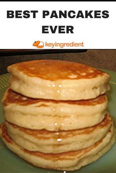 Waking up to a big stack of fluffy pancakes it THE BEST! This recipe is foolproof for the best pancakes in the world! Breakfast Pancakes, Pancakes And Waffles, Breakfast Dishes, Breakfast Recipes, Pancakes From Scatch, Sour Cream Pancakes, How To Make Pancakes, Pancakes Easy, Best Breakfast