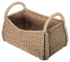Large Sized Rectangular Sea Grass Basket - beach-style - Baskets - Other Metro - KOUBOO