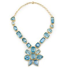 18 Holiday Gifts for the Flower Girl - Irene Neuwirth gold and aquamarine necklace
