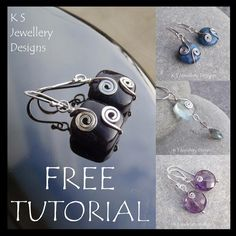 Spiral adorned earrings & pendants - tutorial - $0