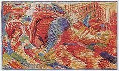 La ciudad se levanta, elavorado en 1910, Umberto Boccioni_ lienzo de 200 × 301 cm, Museo de Arte Moderno, Nueva York.