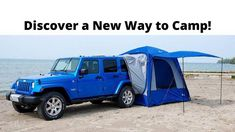 Discover a new way to camp by using your SUV or Minivan. Our Napier Sportz SUV Tent can be easily set up in just a very short time. With a quick 15 minute set-up time, this spacious Sportz Tent allows you to catch some Z's in the cargo area of your SUV or Minivan while using the tent as an extra living space!