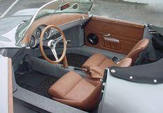 porsche speedster vintage auto interior