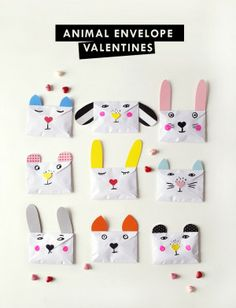 DIY Animal Envelope Valentines (en anglais)