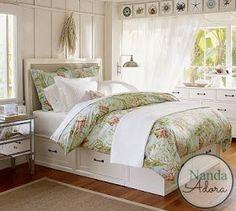 Sala da Nanda: Seleção de camas de casal com gavetas