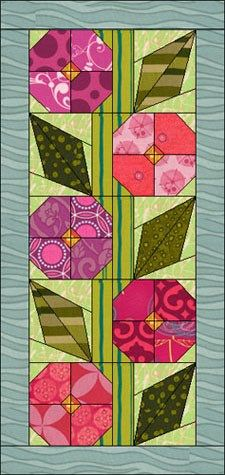 "Quilt Features 2 New blocks 1 Long horizontal border 24 New fabrics from various manufacturers The overall size is 21½"" by 45½"". Use this quilt just as is or modify it any way you"