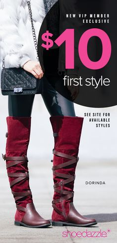 Hey Girl, December Styles are Here! - Get Your First Pair of Over The Knee Boots for Only $10! Take the 60 Second Style Quiz to get this exclusive offer!