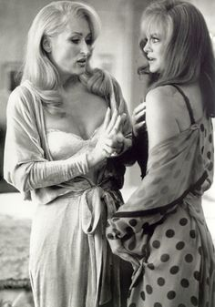"Meryl Streep as Madeline Ashton and Goldie Hawn as Helen Sharpe in ""Death Becomes Her"" circa 1992"