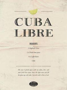 9ff996309523 Poster  Cuba Libre - köp från Nordic Poster Collective