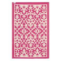 Venice Indoor & Outdoor Rug in Cream & Pink