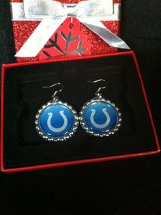 Check out this item in my Etsy shop https://www.etsy.com/listing/169052134/indianapolis-colts-earrings-indianapolis
