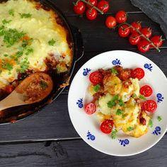 Edels Mat & Vin: Shepherd's Pai ♫ Hytteutgave !! Vegetable Pizza, Food And Drink, Dinner, Vegetables, Breakfast, Pai, Blogging, Breakfast Cafe, Suppers