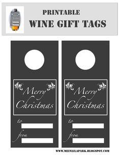 ❉❉ free printable Christmas wine gift tags ❉❉print on colored paper