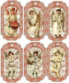 ♥ Christmas Tags Printable, Christmas Card Crafts, Christmas Scrapbook, Printable Tags, Shabby Chic Christmas, Pink Christmas, Vintage Christmas, Xmas, Vintage Tags