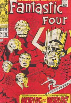 Fantastic Four #75 VG+ Silver Surfer guests, Crystal cameo, Galactus, Jack Kirby artwork and cover art. $16.50 Silver Surfer Wallpaper, Silver Surfer Movie, Surfer Tattoo, Jack Kirby Art, Fantastic Four, Cover Art, Crystal, Artwork, Black Silver