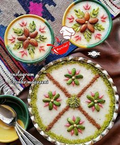 Image may contain: fruit and food Amazing Food Decoration, Persian Desserts, Food Garnishes, Garnishing, Iran Food, Iranian Cuisine, Middle Eastern Recipes, Arabic Food, Food Crafts
