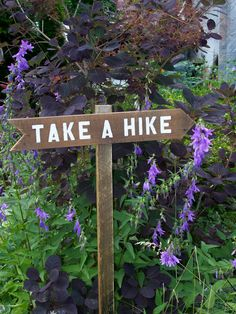 Use handmade trail signs to direct and delight backyard guests. Made by MiscKDesigns.
