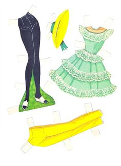 Friend of Barbie includes. Two dolls, one brown hair and one blonde;  Seven sheets of clothes and accessories. Midge Best Friend of Barbie Cut-Outs |  Artist: Al Anderson?  8 of 12